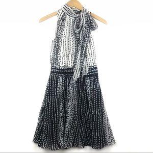 Armani Exchange Fit & Flare Mock Neck Mini Dress